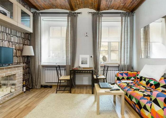 Progettazione soggiorno di 18 metri quadrati .m   build daily