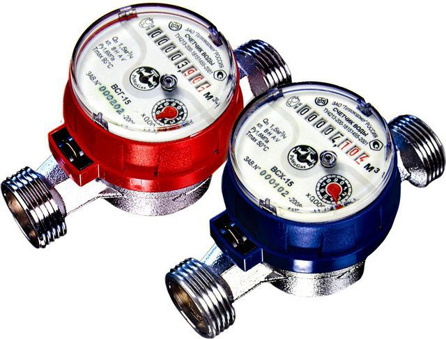 The most common conditions for city apartments - compact tachometer water meters