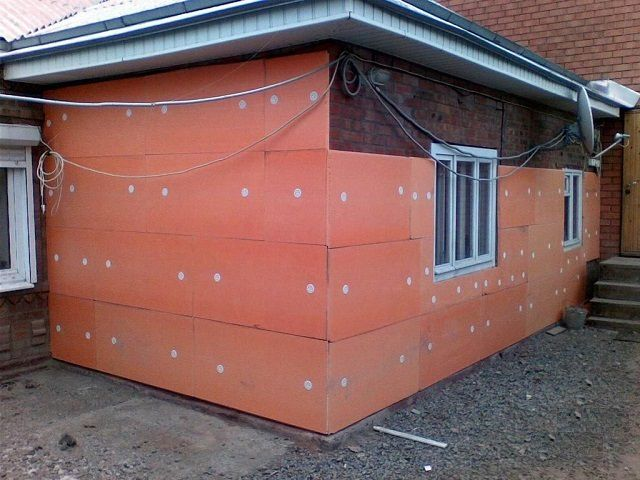Penoplex for thermal insulation of walls