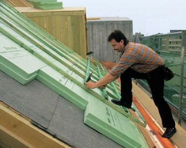 The material is perfect for the insulation of the roof