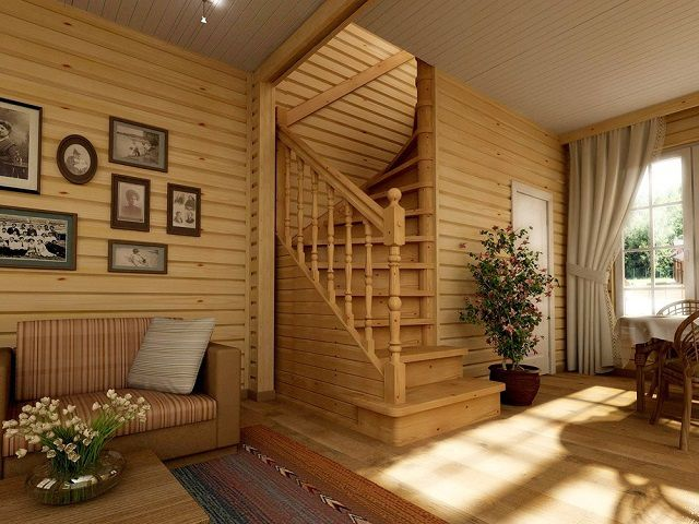 Under the curved staircase is equipped with a separate room