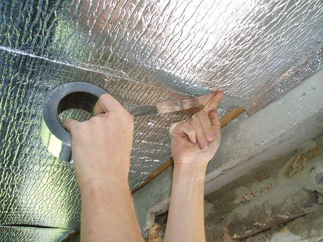 Joints is recommended to seal with tape foiled