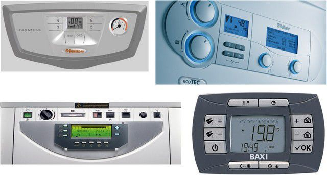 modern gas boiler control panel - the saturation of functional options , control and security systems