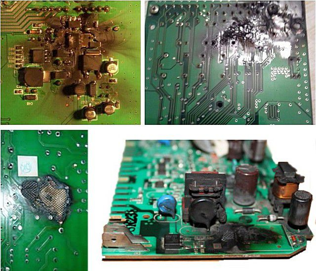 Possible effects of mains voltage fluctuations - bleached board electronic boiler control units