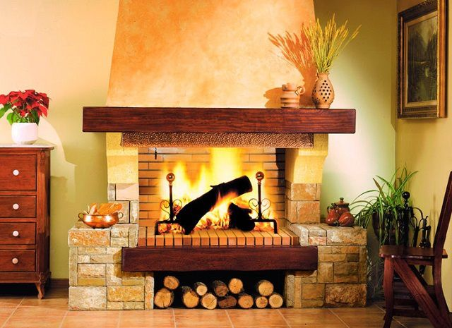 This wood-burning fireplace for the residents of high-rise buildings - unattainable dream