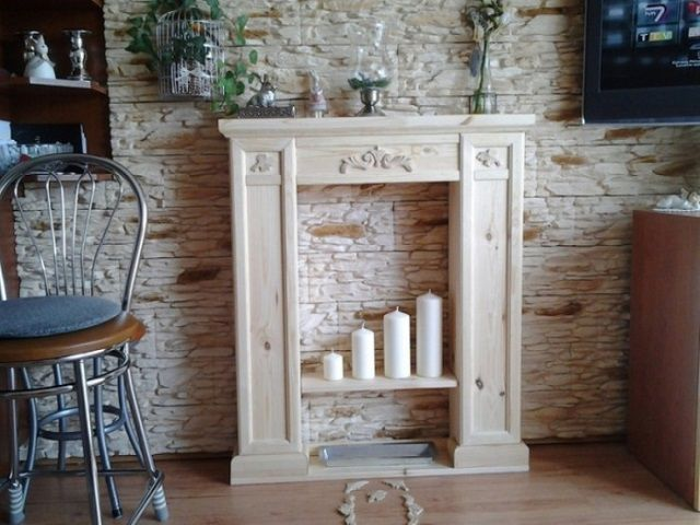 Decorative fireplace imitation is just interior decoration