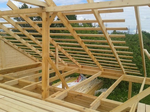 Crate - the basis for fixing the roofing material