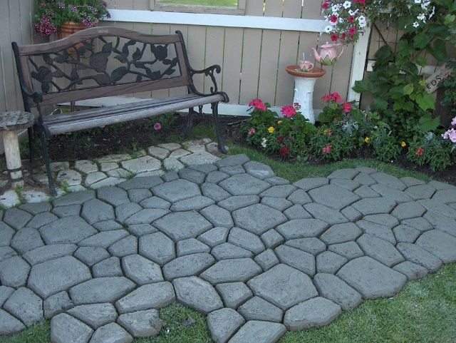 How to make paving tiles at home