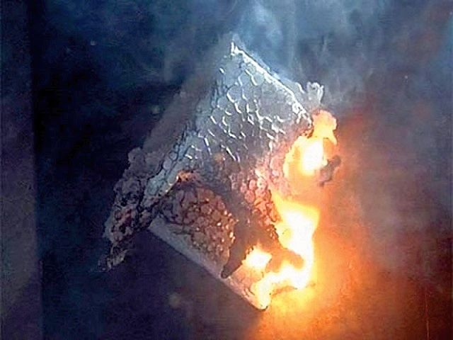 Expanded polystyrene is not only capable of burning , but also identifies with the very dangerous toxic substances