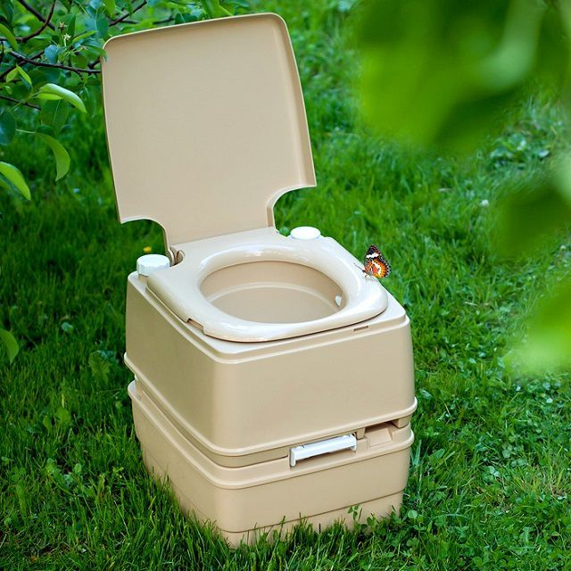 Small bio-toilet is quite possible to take with you when going on nature