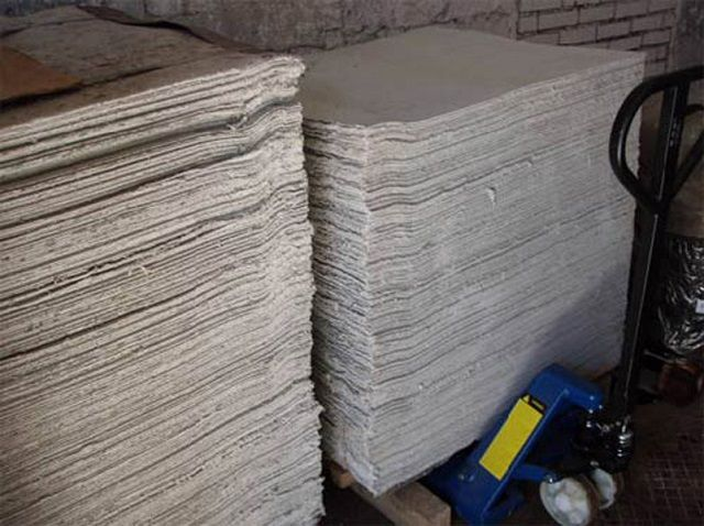 Asbestos sheets - excellent material for heat-resistant gaskets