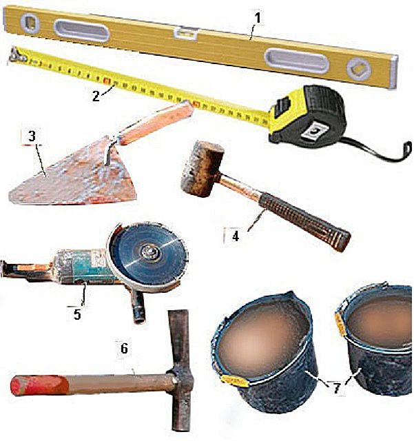Necessary tools for masonry fireplace