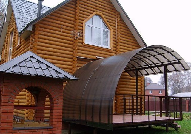 Flexible material offers great opportunities for giving roof structures of different shapes