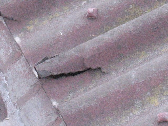 Icing on the eaves or in the bottom of the roof slope often leads to the destruction of edges of sheets of slate .