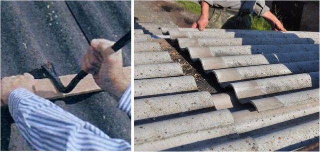 If very carefully to release the bottom sheet of slate on the nails , it can be pulled down for replacement with a new