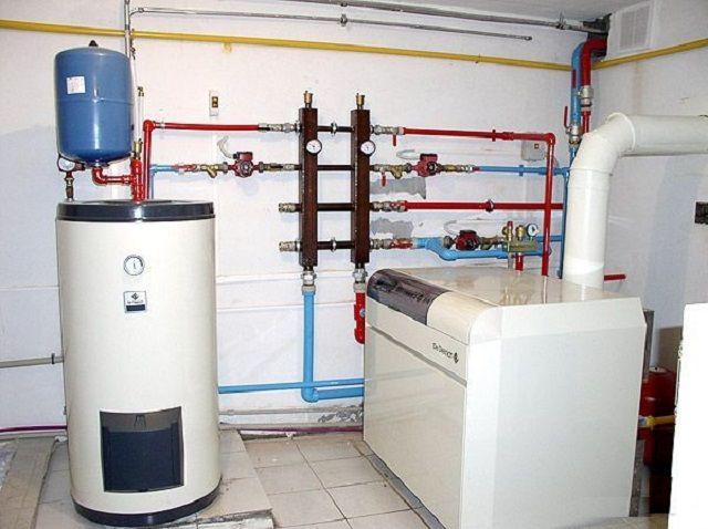 In a private house under the boiler it is best to allocate a separate room