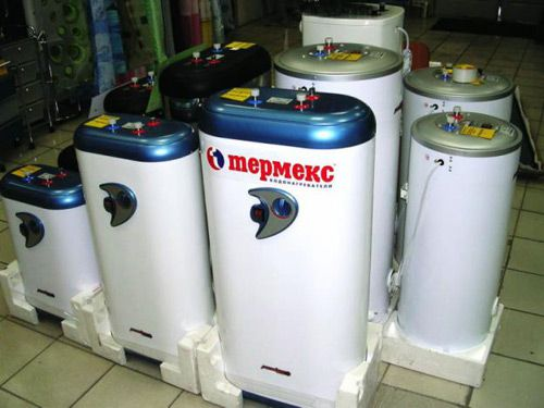 Water heaters with different volumes