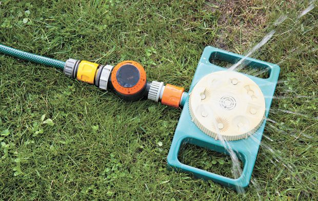 Sprinkler can be set to any desired location