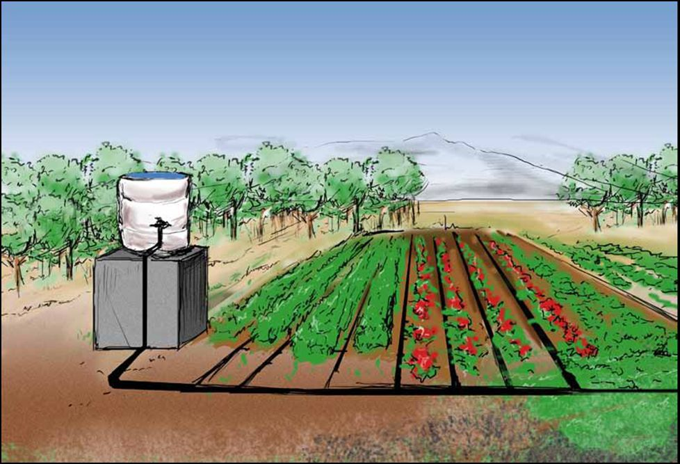 Driving a simple drip irrigation