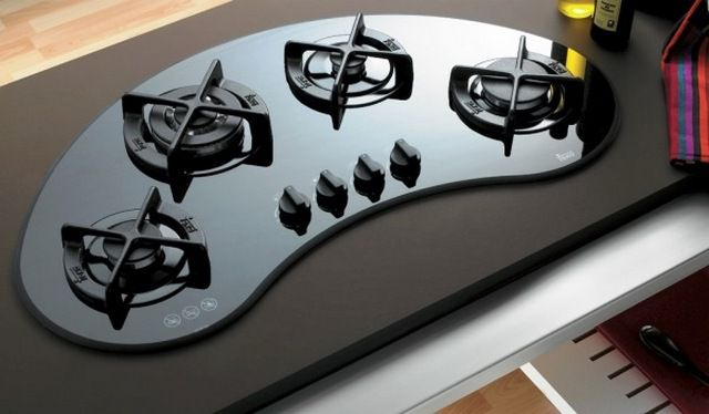 This original cooktop certainly give the interior originality particular cuisine .