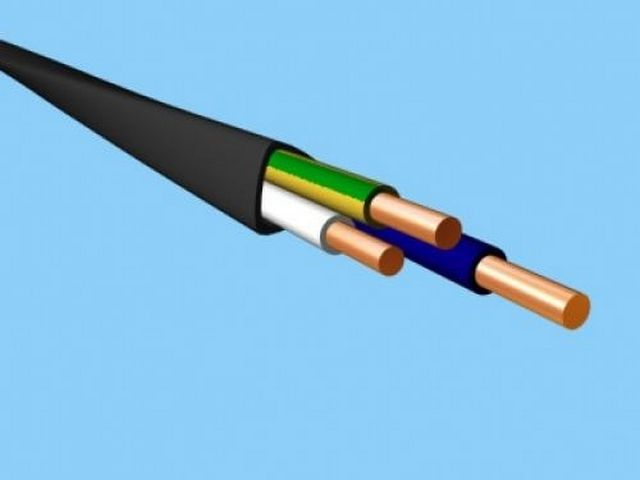 Color-coded wire single-phase cable