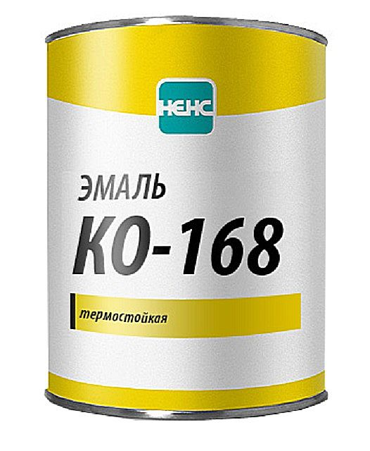 heat resistance qualities of the enamel KO- 168 - not so pronounced