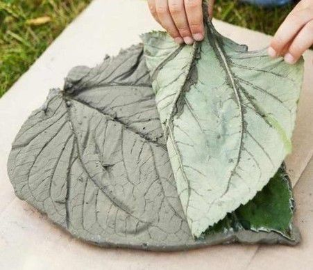 Make a beautiful pattern can be even a leaf of burdock