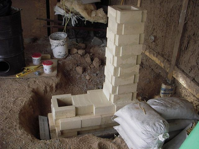 Rocket stove can be paved and brick
