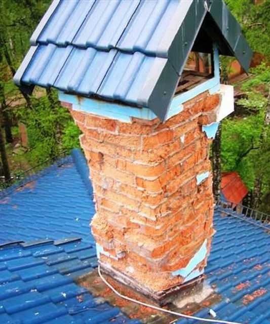 When poor-quality brick chimney hardly last a long time