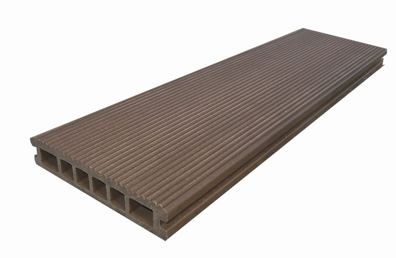 Terrace board of wood-polymer composite
