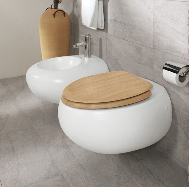 Wall hung lavatory bowl with the installation of a select