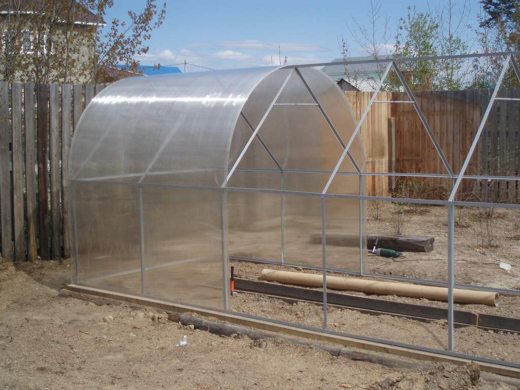 Greenhouse from polycarbonate made ​​with their own hands