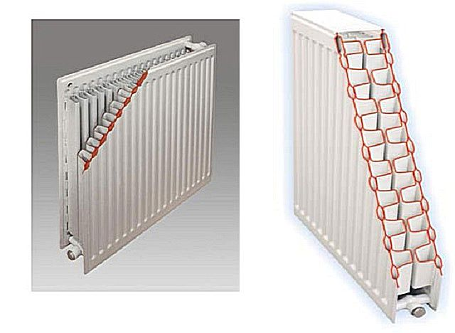 Cut steel panel radiator