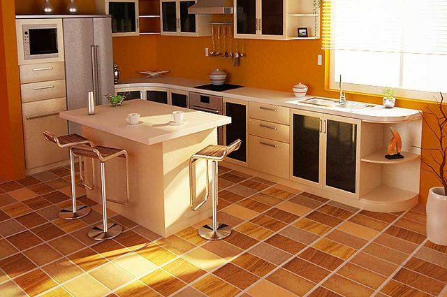 The flooring for the kitchen to choose