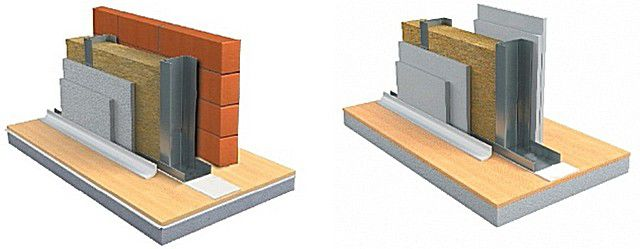 Variants of using a sound-proof fibrous materials in the wall structure