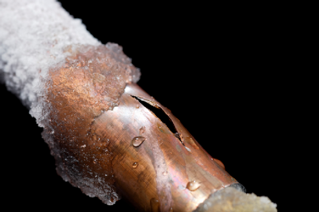 Freezing pipes lead to serious accidents