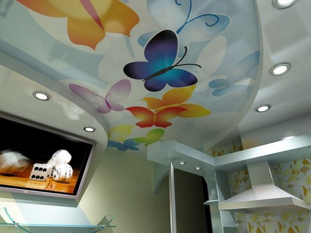 Fabric paints to decorate the ceilings can at their discretion