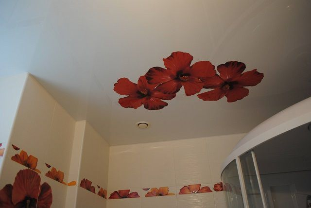 Stretch ceiling with a matte surface