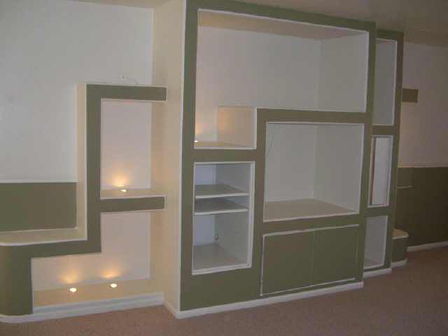 The original cabinet , built of drywall