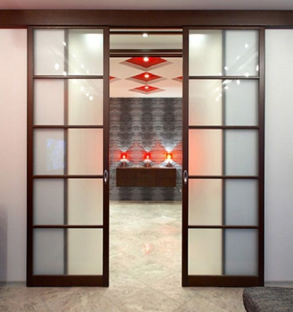 Sliding doors allow you to save room space and become a good interior decoration