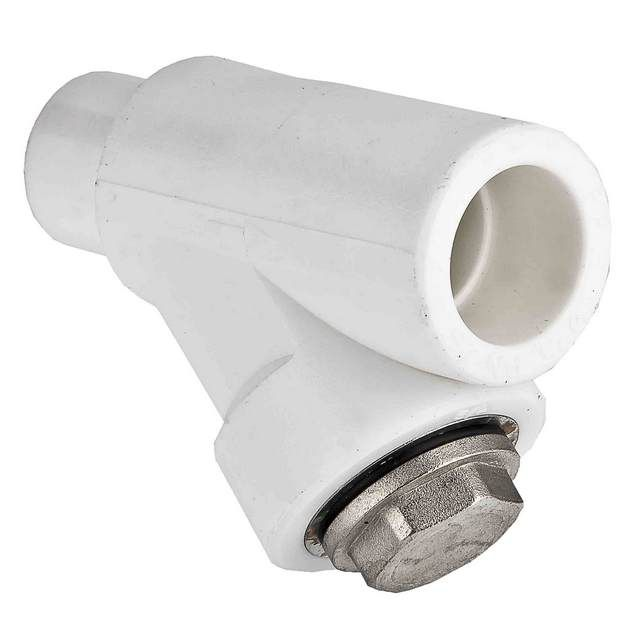 Strainer , into a polypropylene tube circuit designed specifically for installation