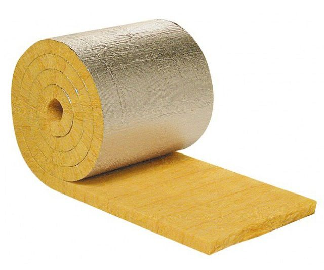 It is best to use a thick mineral wool layer with a foiled