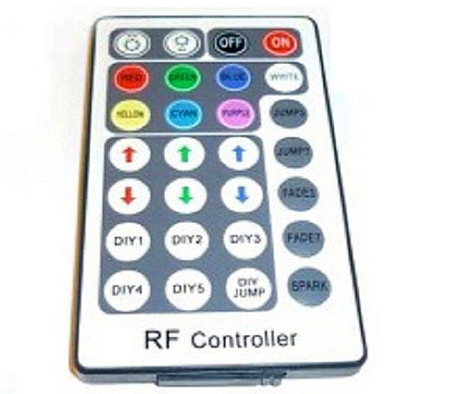 The remote control lighting system from the RGB- ribbon