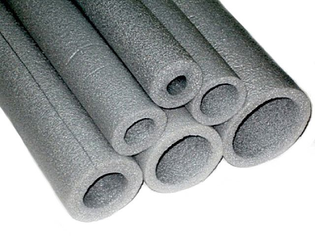 Thermal insulating tube of polyethylene foam
