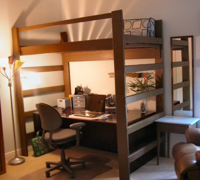 Very effectively save storage space a loft bed