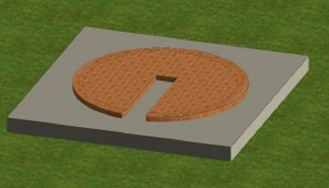 The first course of masonry on the base plate