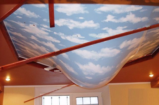 Stretch ceiling can sometimes save from the catastrophic consequences of the flood from the top floor