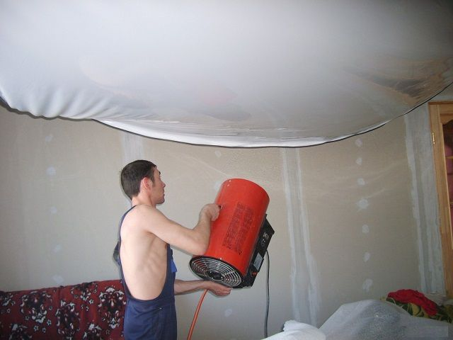 Soak fabric for a perfectly flat ceiling surface