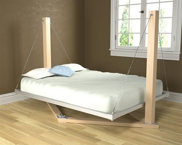 Unusual bed suspended type
