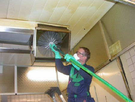 Ventilation cleaning from fat